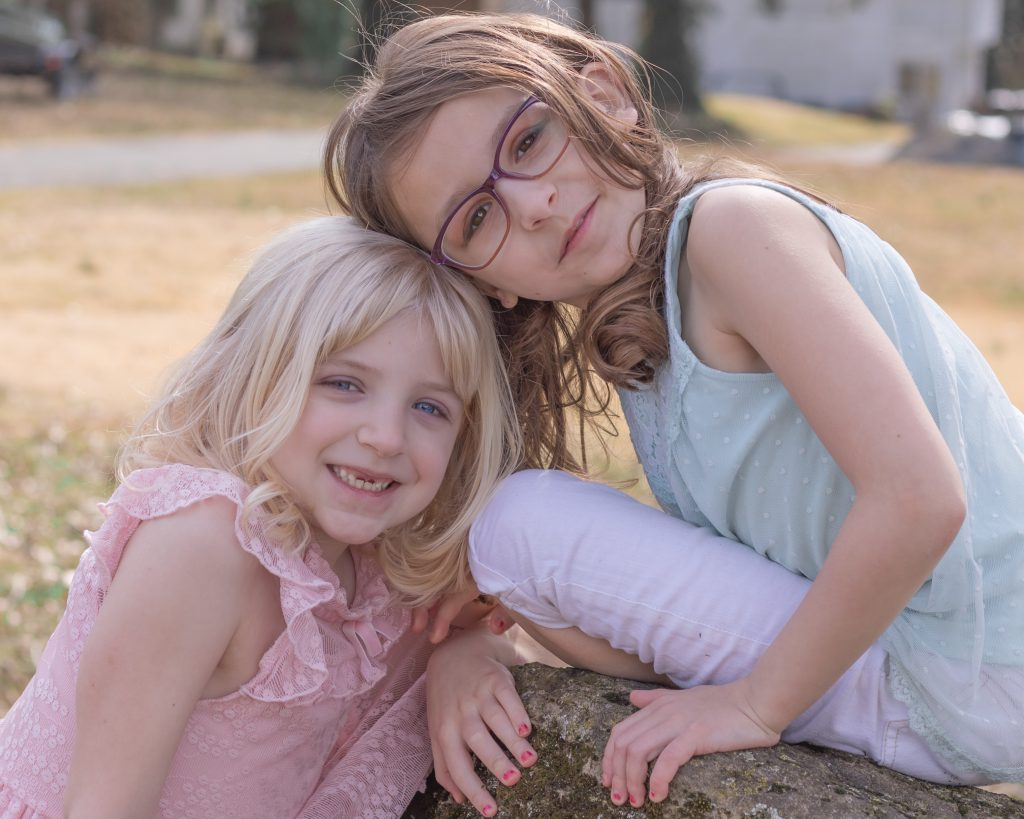 Outdoor Fine Art Child Sisters Portrait in Reading, PA
