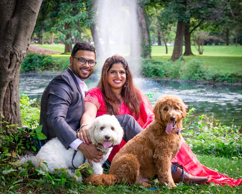 Couple anniversary shoot in Berks County Pennsylvania with dogs