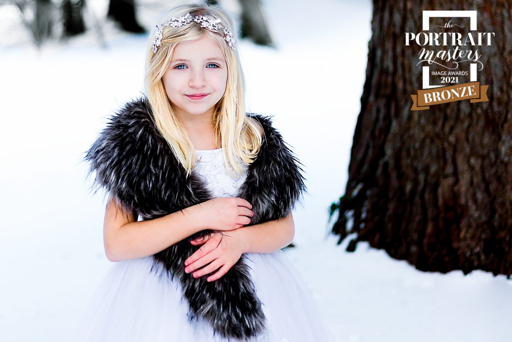 Creative Winter Child Portrait in Berks County, PA