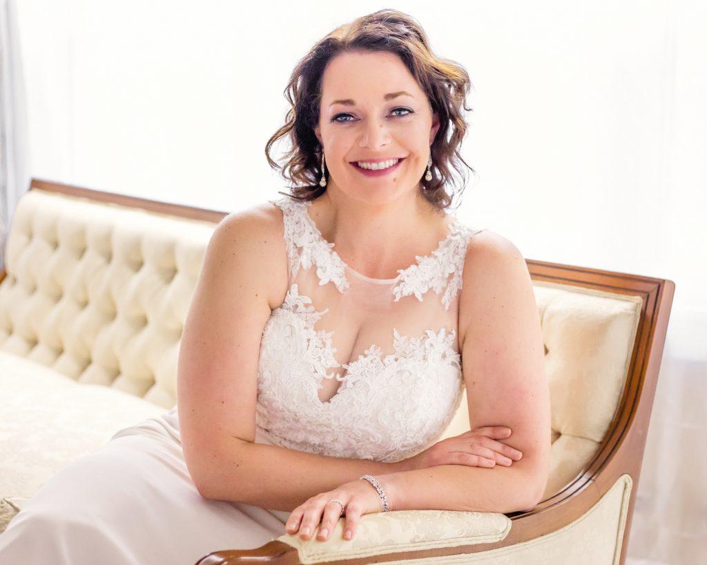 Studio wedding dress shoot glam the dress in Berks County, PA