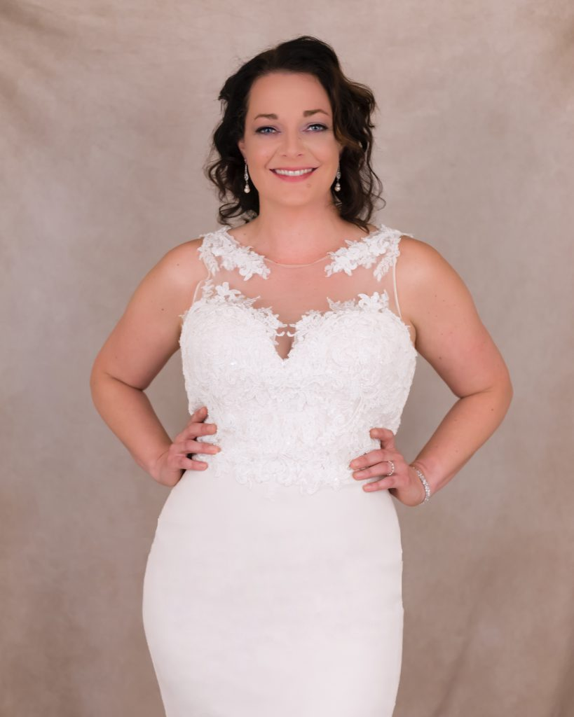 wedding dress studio shoot in Berks County, PA